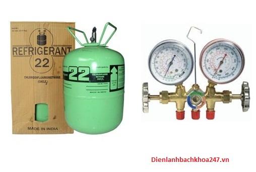huong dan nap gas R22 cho dieu hoa