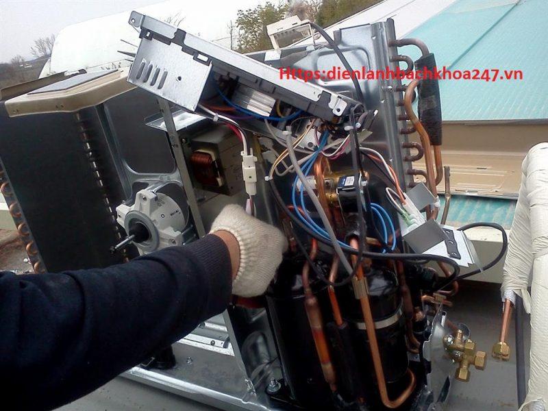 hình ảnh kiểm tra máy nén và bo điều khiển khi có lỗi l5