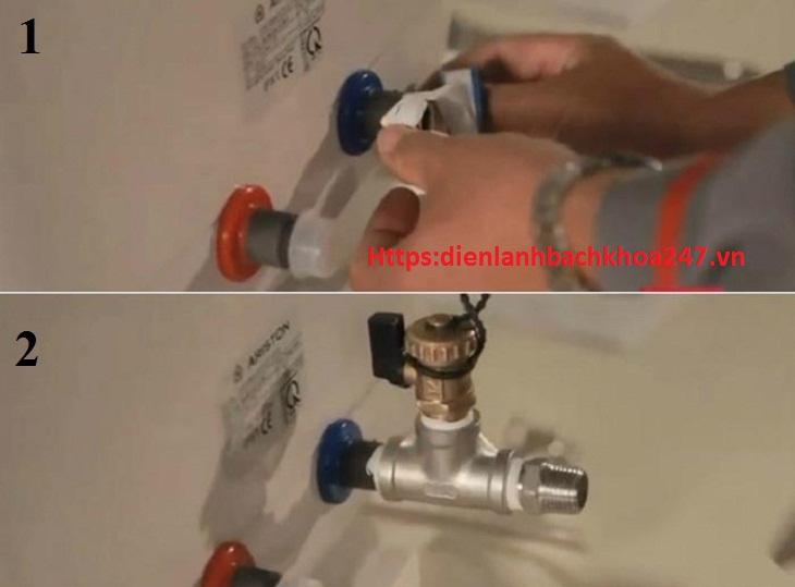 bình nóng lạnh rò nước từ dây dẫn