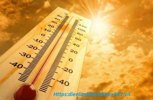 thời tiết quá nóng làm điều hòa chạy yếu