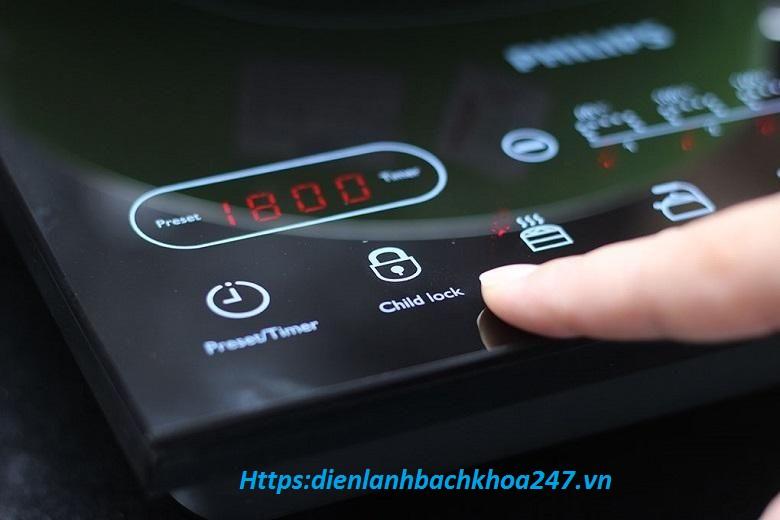 công suất tiêu thụ điện của bếp từ đôi