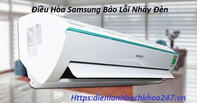 dieu-hoa-samsung-bao-loi-nhay-den